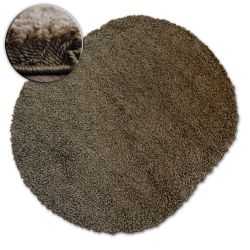 Carpet oval SHAGGY GALAXY 9000 brown