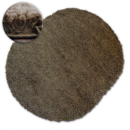 Carpet oval SHAGGY GALAXY 9000 brown