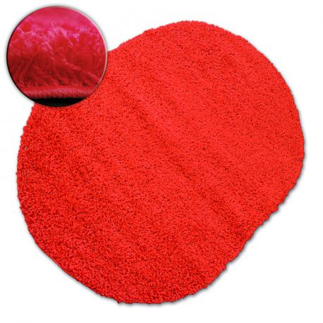 Carpet oval SHAGGY GALAXY 9000 red