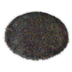 Carpet LOVE SHAGGY circle design 93600 black/brown