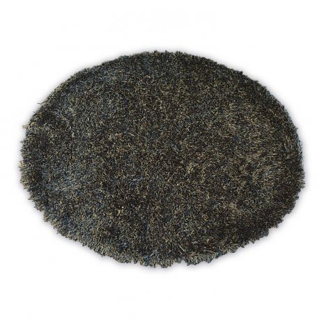 Carpet LOVE SHAGGY circle design 93600 black/brown