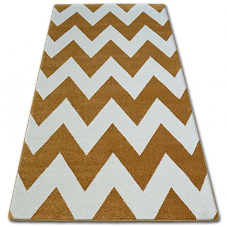 Carpet SKETCH - FA66 gold/cream - Zigzag