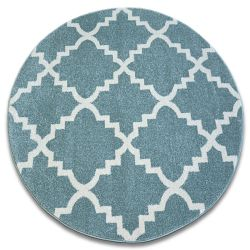 Carpet SKETCH circle - F343 turquoise/cream trellis