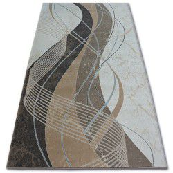 Carpet ARGENT - W4807 Waves Cream / Brown