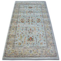 Carpet ARGENT - W7039 Flowers Blue / Cream