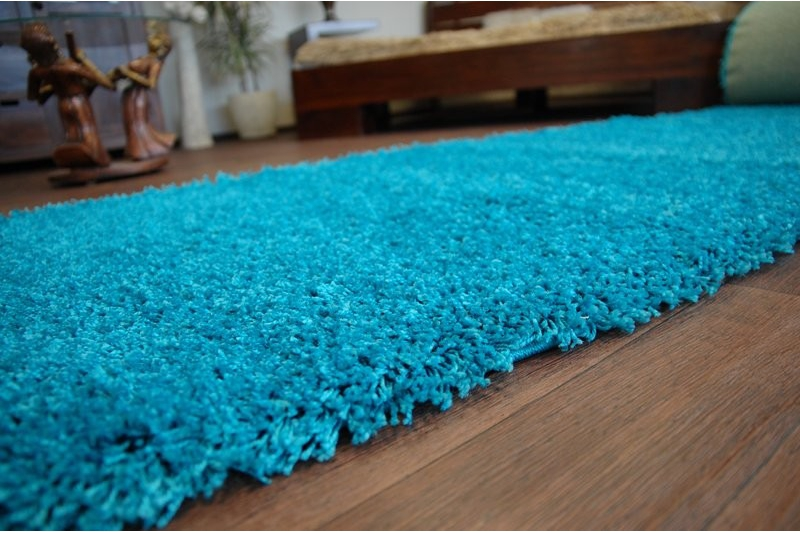 Runner rugs soft shaggy 5cm many colors large small size best carpets ebay - Tapis shaggy turquoise ...