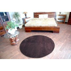 Carpet round ULTRA brown
