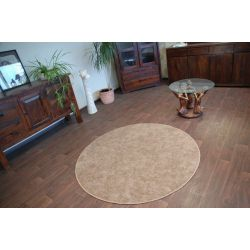 Carpet round SERENADE light brown