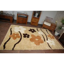 Carpet SHAGGY KWIATY 095 gold