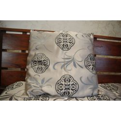Pillow FLORYDA silver / black