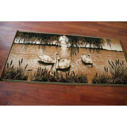 Carpet MAKATA - ŁABĘDZIE olive