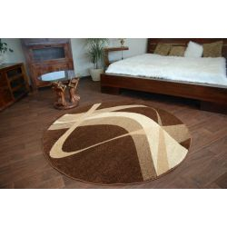 Carpet caramel round BROWN brown