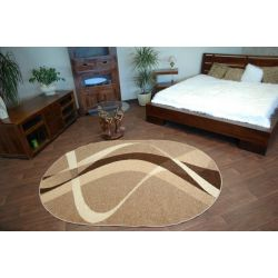 Carpet caramel oval BROWN walnut