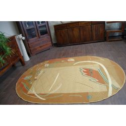 Carpet oval CLASSIC ZAWILEC toffee