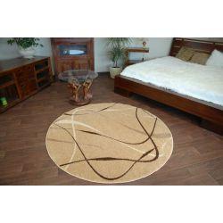 Carpet caramel round CHOCO beige