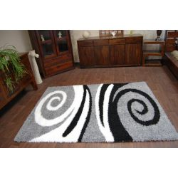 Carpet SHAGGY design 1551 gray / black