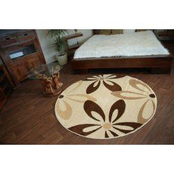 Carpet CARAMEL circle COCOA cream