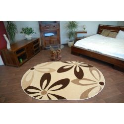 Carpet CARAMEL oval COCOA cream