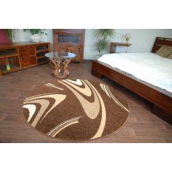 Carpet CARAMEL circle COFFEE brown