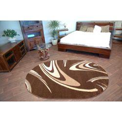 Carpet CARAMEL oval COFFEE brown