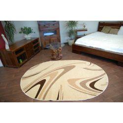 Carpet CARAMEL oval COFFEE cream
