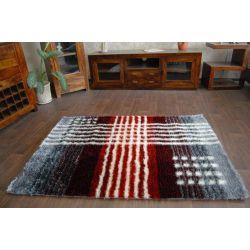 Carpet SHAGGY SYMFONIA 108 silver / red
