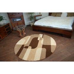 Carpet CARAMEL circle SEPIA brown