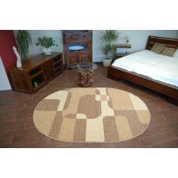 Carpet CARAMEL oval SEPIA nut