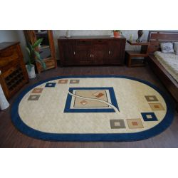 Carpet HEAT-SET DEKOR oval 218 blue