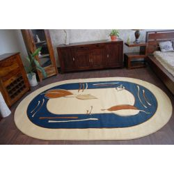 Carpet HEAT-SET DEKOR oval 571 blue