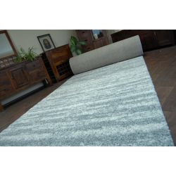 Carpet wall to wall SHAGGY 5cm design 3383 gray white