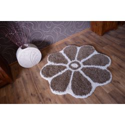 Carpet circle SHAGGY GUSTO Flower C300 light brown