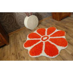 Carpet circle SHAGGY GUSTO Flower C300 orange
