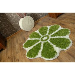 Carpet circle SHAGGY GUSTO Flower C300 green