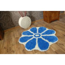 Carpet circle SHAGGY GUSTO Flower C300 blue