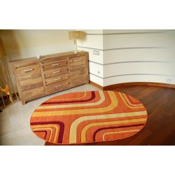 Carpet oval RUBIKON 8204 orange
