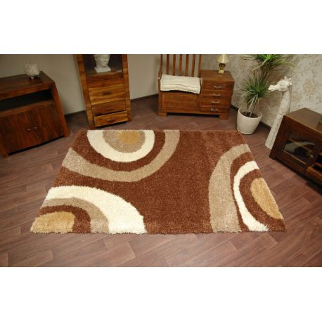 Carpet SHAGGY 5cm design 100 dark brown