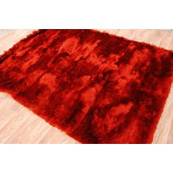 Carpet SHAGGY POLIESTER CUZCO burgundy