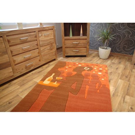 Carpet acrylic TERRY orange