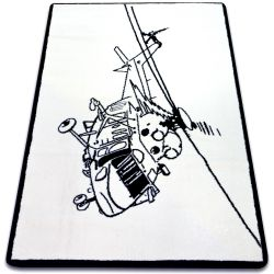Carpet SKETCH - FA69 white/black - Helicopter
