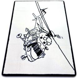 Carpet SKETCH - FA69 white/black - Helicopter