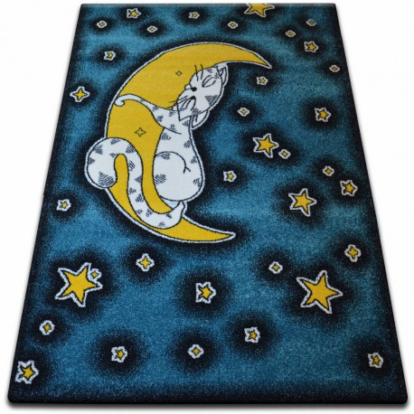 Carpet KIDS Cat blue C414