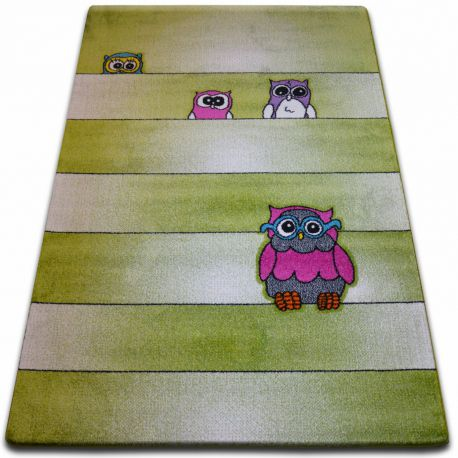 Carpet KIDS Owls green C412