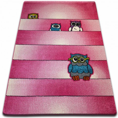 Carpet KIDS Owls pink C412