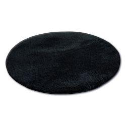 Carpet circle SHAGGY MICRO black