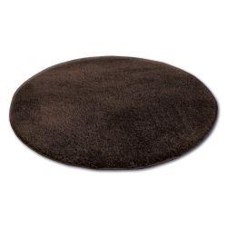 Carpet circle SHAGGY MICRO brown