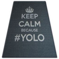 CARPET SIZAL FLOORLUX 20276 YOLO black / silver