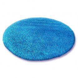 Carpet round SHAGGY 5cm blue