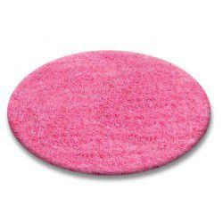 Carpet round SHAGGY 5cm pink