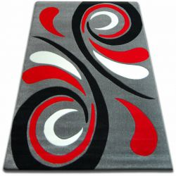 Carpet FOCUS -  8695 gray red WAVE grey